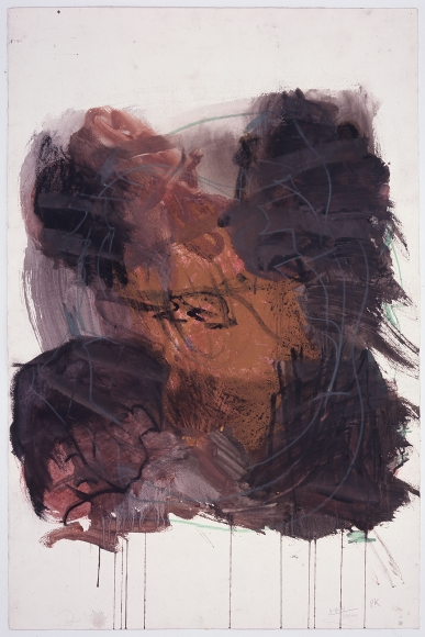 """""""Untitled"""", 1991 Oil pastel, gouache on paper"""