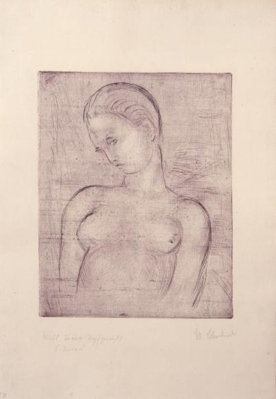 """Weiblicher Torso, Kopf geneigt"", 1912"