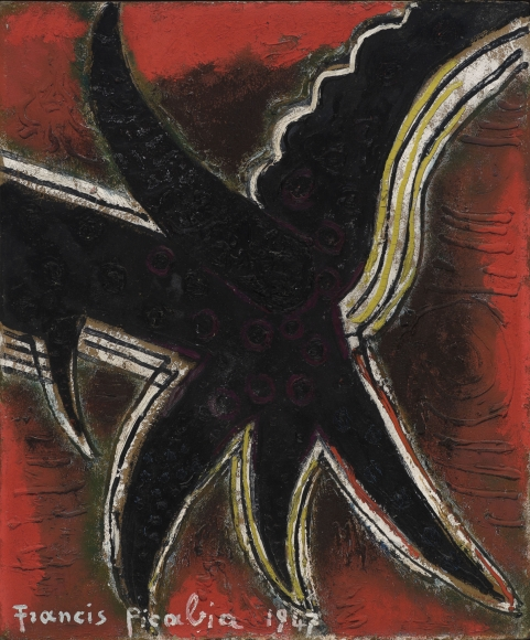 """Etoile"", 1947 Oil on board"