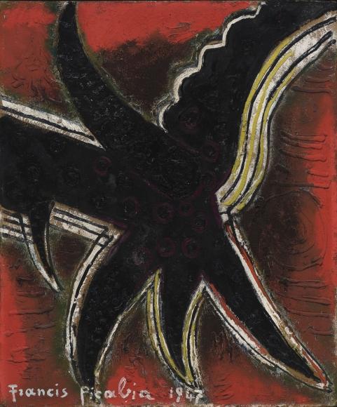"""""""Etoile"""", 1947 Oil on board"""