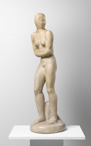 """Rückblickende"", 1914 Cast stone"