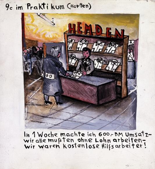 """Class 9 C on Job Training (Horten Department Store)"", 1971"