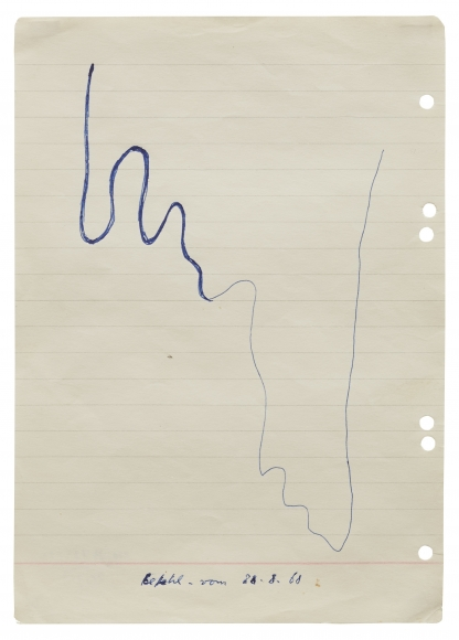 """""""Untitled (Command from 28.8.68)"""", 1968"""
