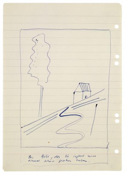 """""""Das Bild, das sie irgend wann einmal schon gesehen haben. (The painting which you have surely seen before.)"""", ca. 1963"""
