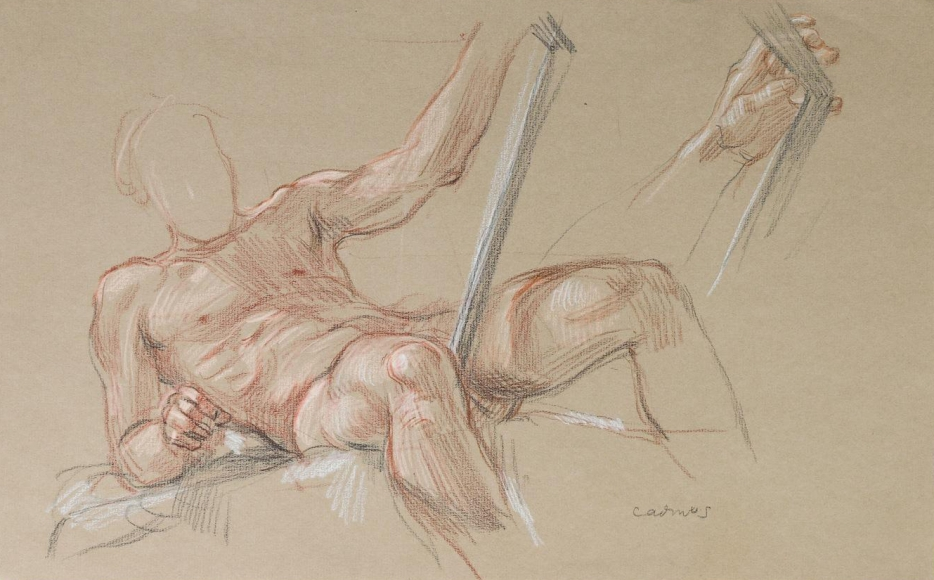 """""""Study for 'David and Goliath'"""", ca. 1971"""