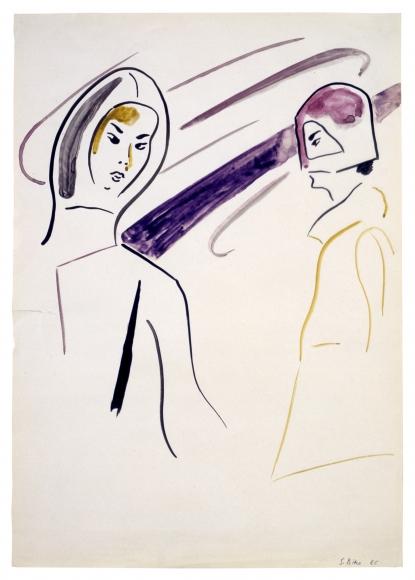 """""""Zwei Hutmodelle (Two Hat Models)"""", 1966"""