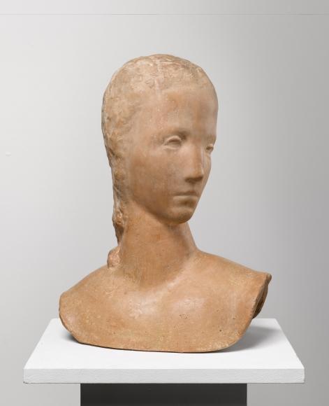 """""""Mädchenkopf sich umwendend (Kopf der Schreitenden)"""", 1913-1914"""