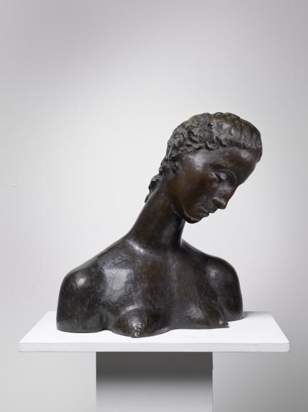 """""""Geneigter Frauenkopf (Büste der Knienden)"""", 1912-1914"""