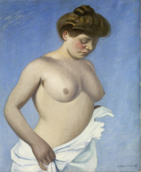 """Femme en torse tenant sa chemise"", 1905"