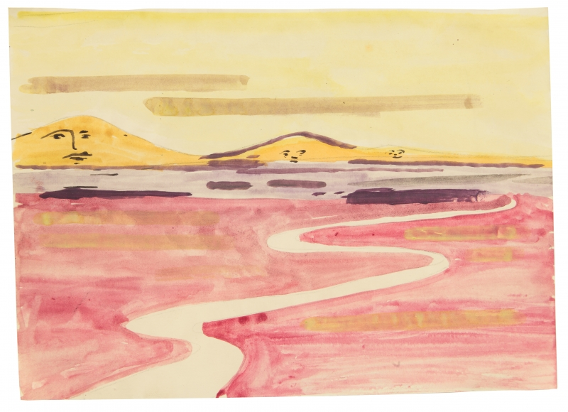 """""""Untitled"""", 1968 Watercolor on paper"""