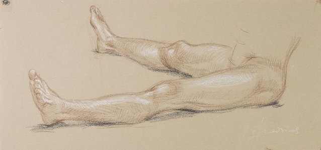 """""""Preparatory drawing for the 1977 painting, 'Winter'"""" 1977"""