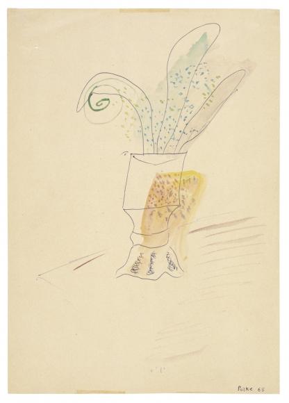 """Untitled"", 1965 Ballpoint pent, gouache on paper"