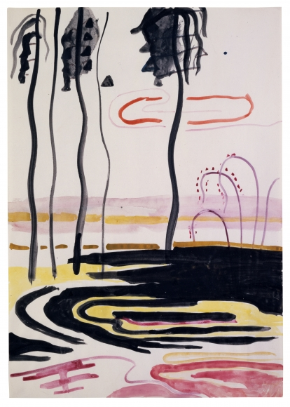 """""""Untitled (Landscape with Black Palm Trees)"""", ca. 1968"""
