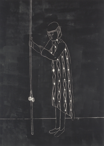 'Self-Portrait in Response to Lack of Adequate Equipment (night version)', 2004