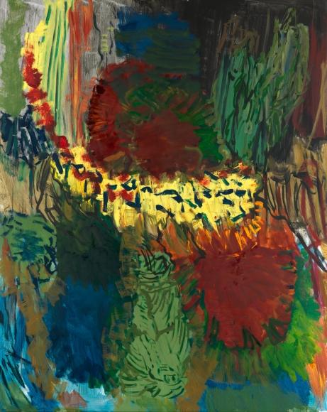 """Untitled"", 2011 Tempera on canvas"