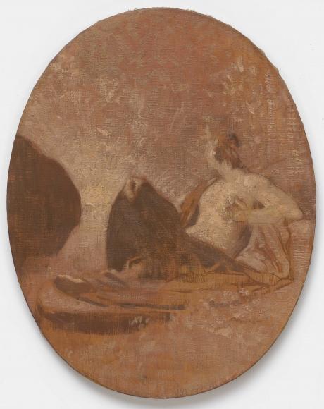 """PIERRE PUVIS DE CHAVANNES, """"Esquisse pour La Contemplation (Sketch for Contemplation)"""", 1864"""