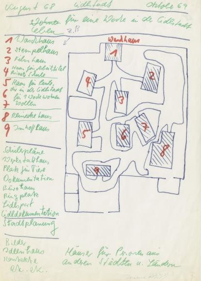 """""""LIDLSTADT, August 68 - Oktober 6 (LIDL-TOWN, August 68 – October 6)"""", 1968"""