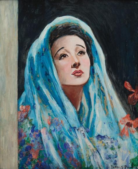 """""""Femme au châle bleu"""", ca.1940-1944"""