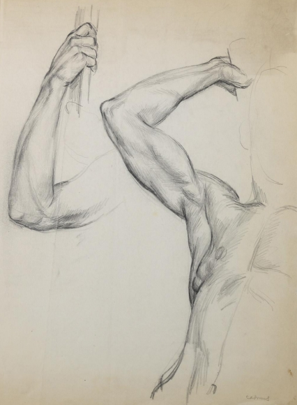 """""""Untitled Study (Muscle Man)"""", ca. 1937"""