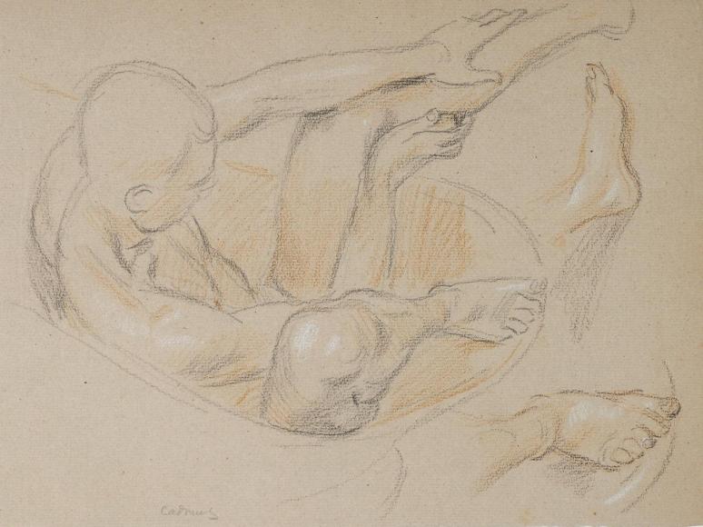 """""""Nude Study (J.F.)"""", ca. 1940-1949"""