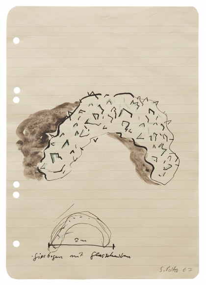 """""""Plaster Arch with Glass Shards"""", 1967"""