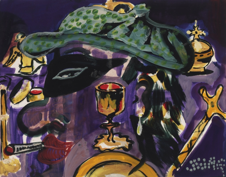 """""""SWAG"""", 1987 Tempera on paper"""
