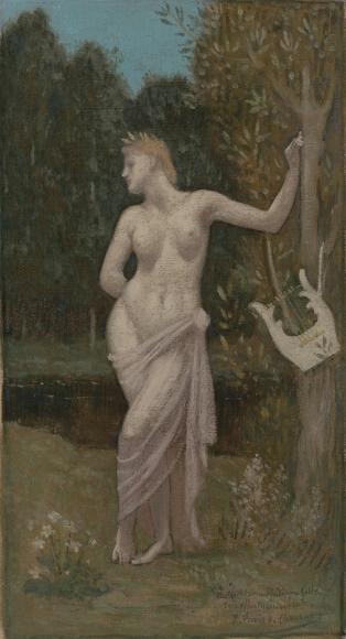 "PIERRE PUVIS DE CHAVANNES, ""Erato or Euterpe"", ca. 1889"