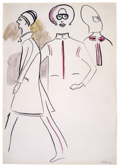 """""""Untitled"""", 1966 Gouache, ink on paper"""