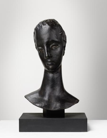 """""""Kopf der großen Sinnenden (Mädchenkopf auf schlankem Hals)"""", 1913-1914"""