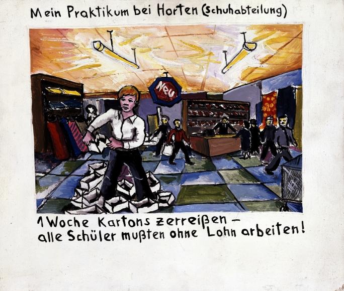 """My Job Training at Horten (Shoe Department)"", 1971"