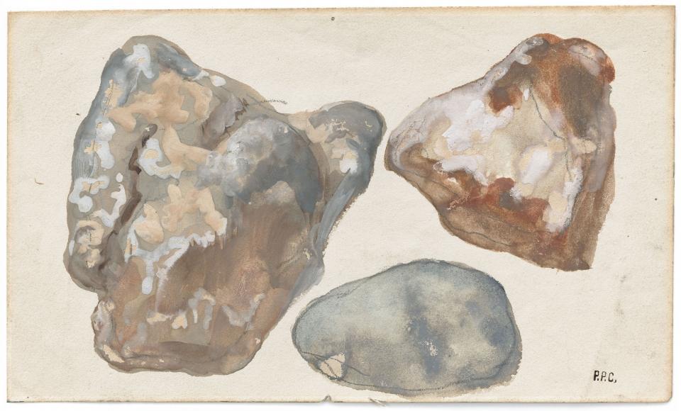 """Étude des pierres (Study of Stones)"", ca. 1870-1890"