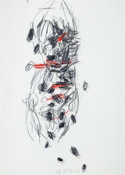 """Adolf"", 1991 Pastel, pencil on paper"