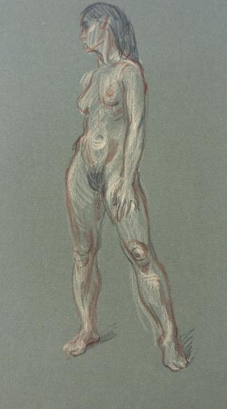 """Standing Female Nude"", ca. 1970-1979"