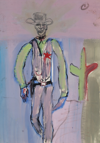 """""""Untitled"""", 1981 Tempera on paper"""