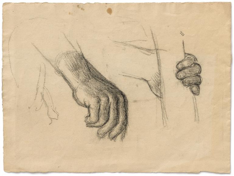 """""""Étude pour vie pastorale de sainte Geneviève (Study for Pastoral life of Saint Geneviève)"""", ca. 1877"""