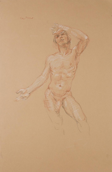 """""""Standing Male Nude"""", ca. 1978"""