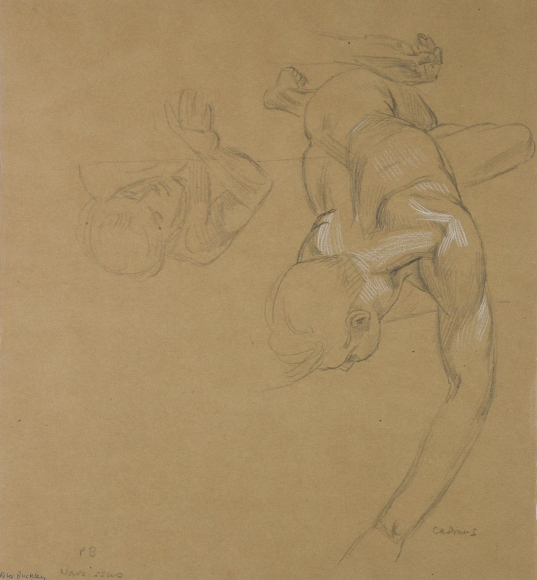 """""""Study for Narcissus (Portrait of Peter Buckley)"""""""