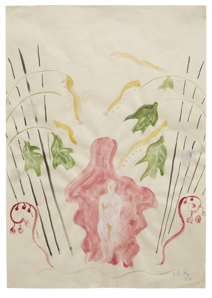 """""""Untitled"""", 1967 Watercolor, gouache on paper"""