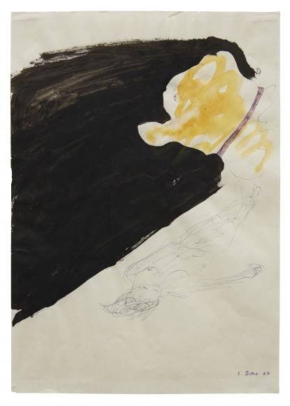 """Untitled"", 1965 Ballpoint pen, ink, gouache on paper"