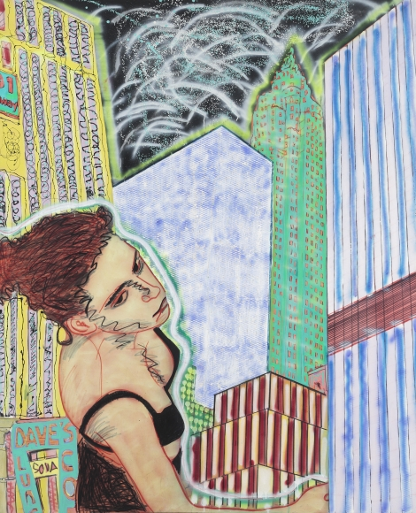 """Sleepwalking"", 1983 Oil on canvas"