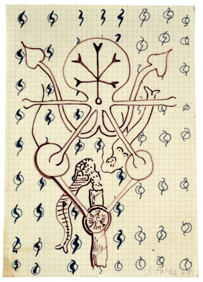 """Untitled"", 1968 Felt-tip pen on graph paper"