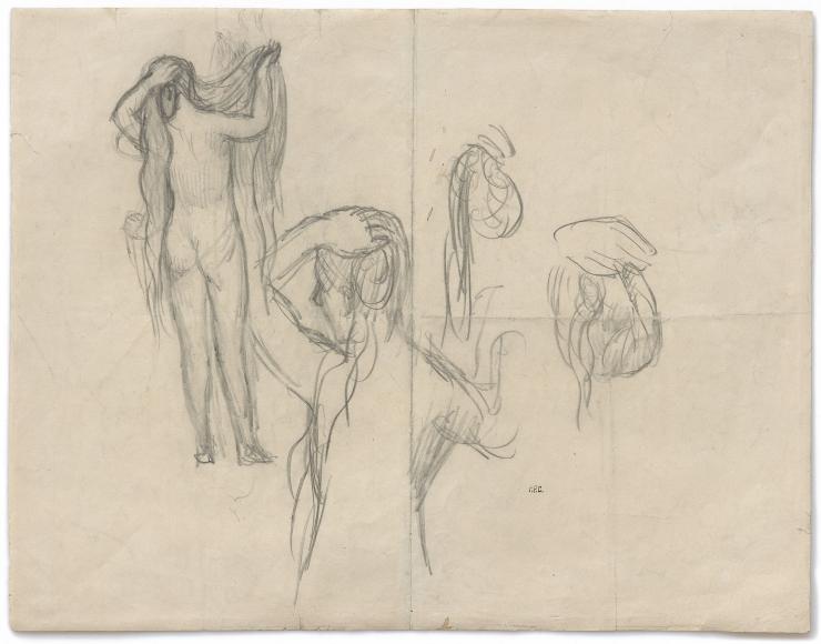 """""""Étude pour Jeunes Femmes au Bord de la Mer (Study for Young Women by the Sea)"""", 1879"""