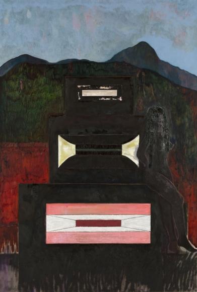 """""""Speaker/Girl"""", 2015 Oil on linen"""