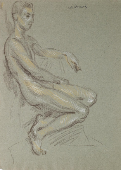 """Seated Male Nude"", ca. 1990-1999"