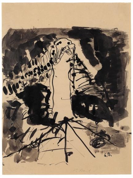 """Nightstick"", 1960 Ink on paper"