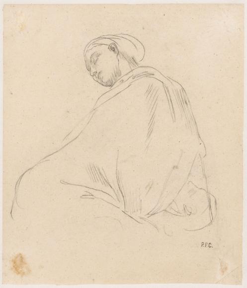"""""""Jeune femme endormie (étude pour Le Sommeil) (Young Woman Sleeping [Study for Sleep])"""", 1867"""