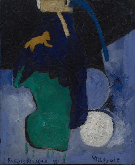 """Villejuif"", 1951 Oil on jute"