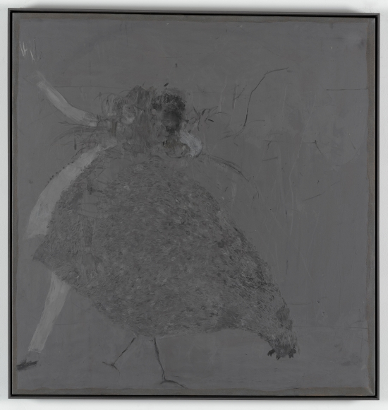 """Untitled"", 2014 Oil and acrylic medium on fabric"