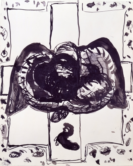 """Cross"", 1963 Ink on paper"