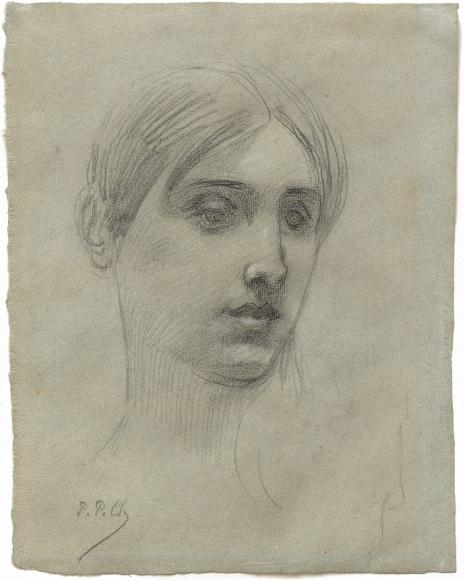 """Tête de jeune femme (Head of a Young Woman)"", ca. 1875-1885"